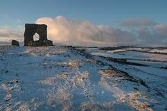 Castello di Dunnideer e fortificazione della collina, Aberdeenshire immagine stock libera da diritti