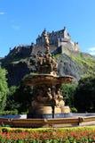 Castello di Edimburgo e principi Street Gardens Fotografia Stock