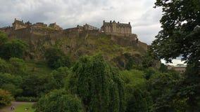 Castello di Edimburgo in Scozia alta sulla collina Immagine Stock Libera da Diritti