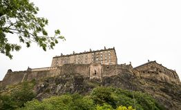 Castello di Edimburgo su Castle Rock Fotografia Stock