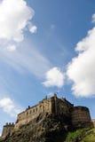 Castello di Edinburgh dal sud fotografie stock libere da diritti