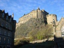 Castello di Edinburgh dal sud Fotografie Stock