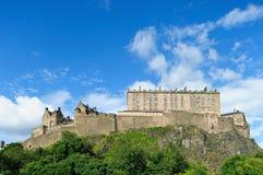 Castello di Edinburgh dall'ovest fotografia stock