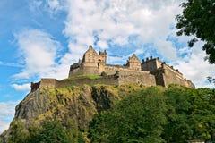 Castello di Edinburgh, Scozia, dall'ovest immagine stock