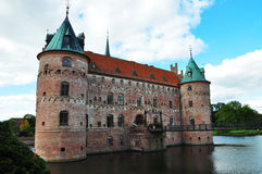 Castello di Egeskov immagine stock libera da diritti