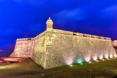 Castello di EL Morro, San Juan, Porto Rico Fotografia Stock Libera da Diritti