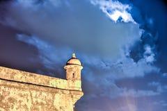 Castello di EL Morro, San Juan, Porto Rico Immagini Stock