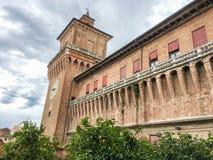 Castello di Estense a Ferrara, Italia Fotografia Stock Libera da Diritti
