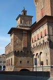 Castello di Estense. Ferrara. L'Emilia Romagna. L'Italia. Fotografie Stock Libere da Diritti