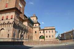 Castello di Estense. Ferrara. L'Emilia Romagna. L'Italia. Fotografia Stock Libera da Diritti