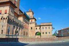 Castello di Estense. Ferrara. L'Emilia Romagna. L'Italia. Fotografia Stock
