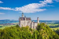 Castello di favola del Neuschwanstein, Baviera, Germania Immagini Stock