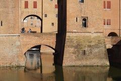 Castello di Ferrara Immagine Stock
