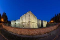 Castello di Fisheyed, Aquila-Italia Immagini Stock Libere da Diritti