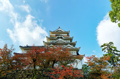 Castello di Fukuyama (lato est) Immagine Stock Libera da Diritti
