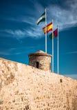 Castello di Gibralfaro Fotografie Stock Libere da Diritti