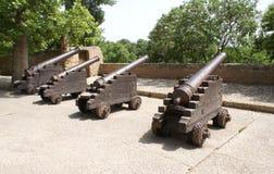 Castello di Gibralfaro e di Alcazaba a Malaga, Spagna Fotografia Stock