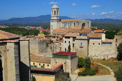 Castello di Girona Fotografia Stock