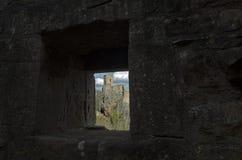Castello di Girsberg attraverso il loophall nel castello di San-Ulrich, costola Fotografia Stock Libera da Diritti