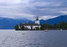 Castello di Gmunden nel lago Traunsee - Austria Immagini Stock