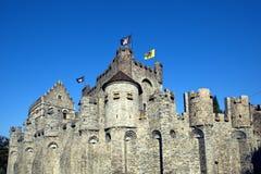 Castello di Gravensteen a Gand Immagine Stock Libera da Diritti