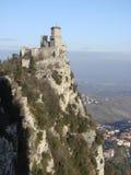 Castello di Guaita nel San Marino Fotografia Stock