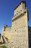 Castello di Guaita nel San Marino Fotografia Stock Libera da Diritti