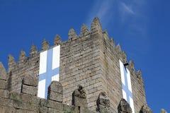 Castello di Guimaraes nel Portogallo fotografia stock