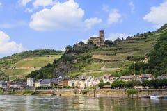 Castello di Gutenfels Immagine Stock Libera da Diritti