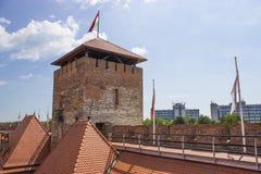 Castello di Gyula fotografie stock libere da diritti