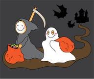 Castello di Halloween e bambini felici Fotografia Stock Libera da Diritti