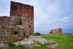 Castello di Hammershus su Bornholm immagini stock libere da diritti