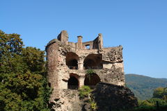 Castello di Heidelberg Immagini Stock Libere da Diritti