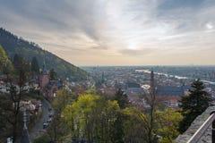 Castello di Heidelberg al tramonto Immagine Stock Libera da Diritti