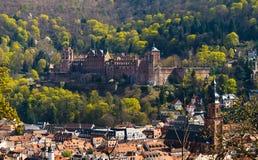 Castello di Heidelberg in primavera Fotografie Stock Libere da Diritti
