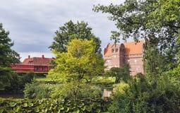 Castello di Hesselager su Funen Fotografia Stock Libera da Diritti