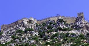 Castello di Hilarion del san, Kyrenia, Cipro Fotografia Stock Libera da Diritti