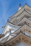 Castello di Himeji, complesso giapponese del castello della sommità di A situato a Himeji Fotografie Stock