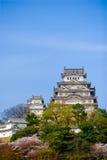 Castello di Himeji con cielo blu fotografia stock