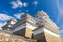 Castello di Himeji a Himeji con cielo blu Fotografie Stock Libere da Diritti
