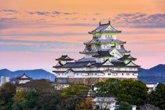 Castello di Himeji nel Giappone fotografie stock