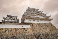 Castello di Himeji nel Giappone, anche chiamato il castello bianco dell'airone Fotografie Stock