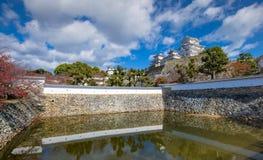 Castello di Himeji, Himeji, prefettura di Hyogo, Giappone immagini stock libere da diritti
