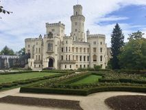 Castello di Hluboka Immagini Stock