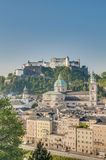 Castello di Hohensalzburg a Salisburgo, Austri Fotografie Stock Libere da Diritti