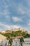 Castello di Hohensalzburg a Salisburgo, Austria Immagine Stock Libera da Diritti