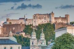 Castello di Hohensalzburg a Salisburgo, Austria Fotografia Stock