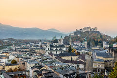 Castello di Hohensalzburg, Salisburgo Austria Immagini Stock Libere da Diritti