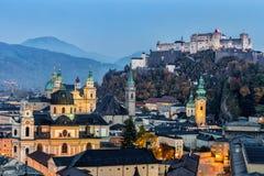 Castello di Hohensalzburg, Salisburgo Austria Immagine Stock