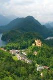 Castello di Hohenschwangau in alpi tedesche Immagini Stock Libere da Diritti